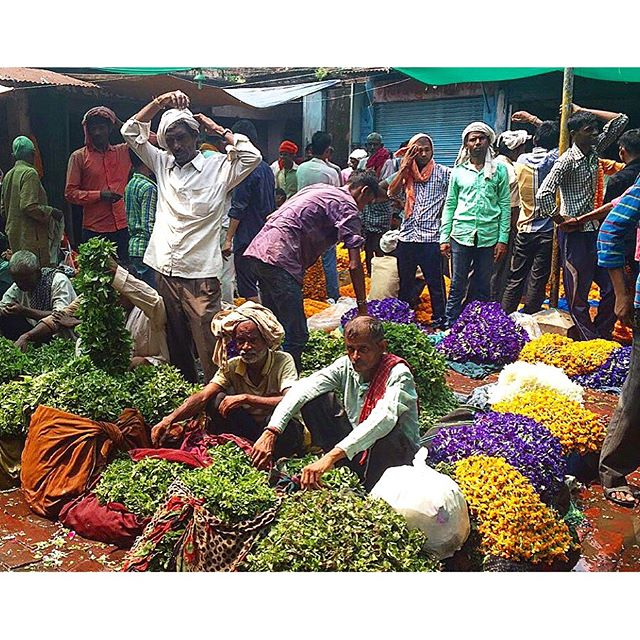 Flower Market Varanasi of India