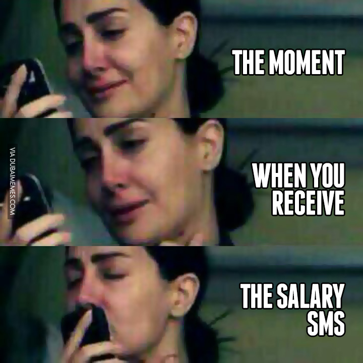 when you receive the salary sms