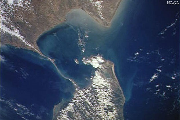 satelite picture of Rameshwaram ram setu
