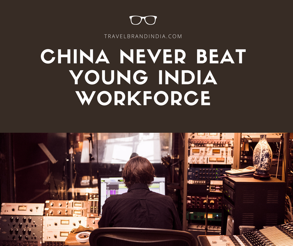 China never beat young India workforce