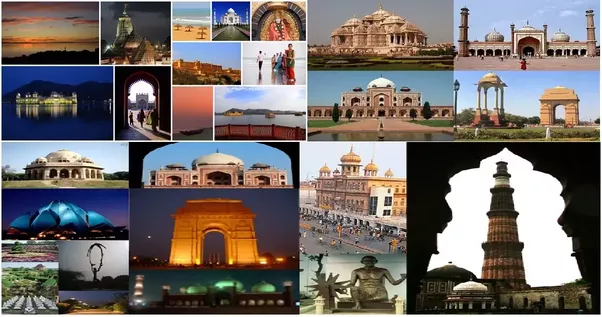Most popular destinations of India