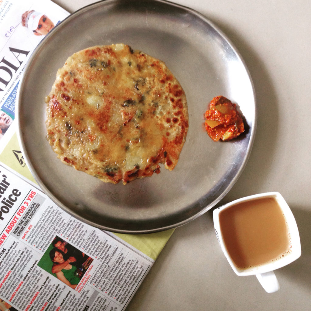 Paratha chai for fit and flat belly weight loss health