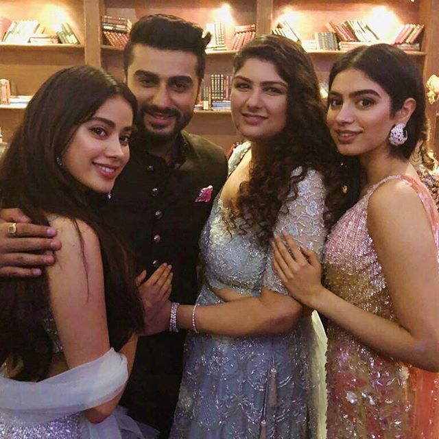 Janhvi Kapoor Birthday Party with Arjun Kapoor Shridevi Family photos