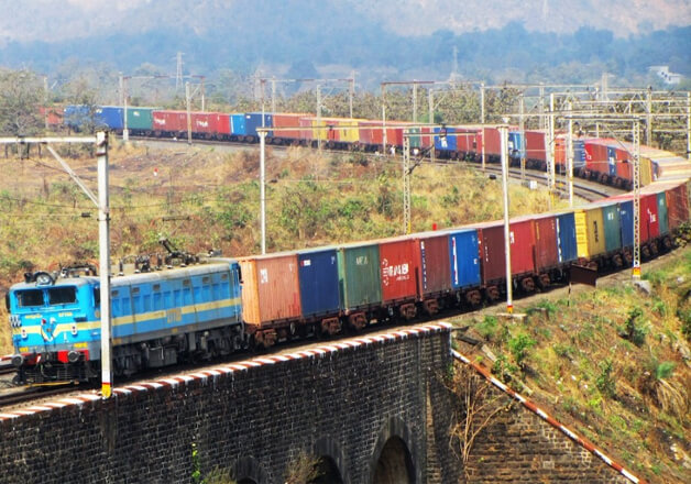 large Freight train of India - Indian Railways