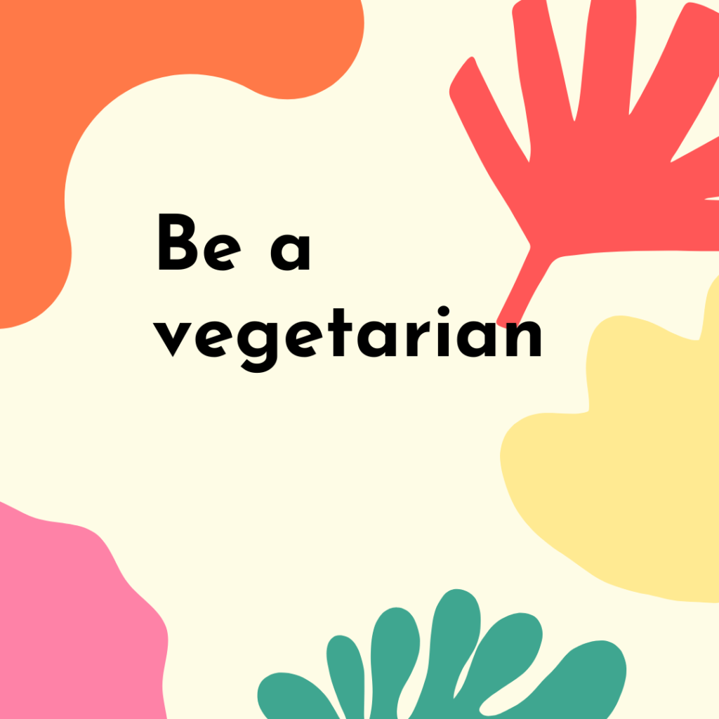 Be a vegetarian Image and photo